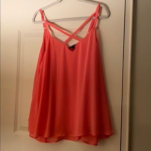 Sheer two layer coral tank